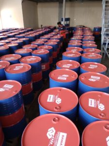 DANA Railroad Engine oil is packed into drums of various sizes