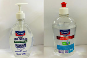 DANA Hand sanitizers are available in different packing sizes