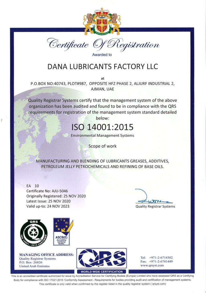 ISO 14001:2015 and 45001:2018 Certificates